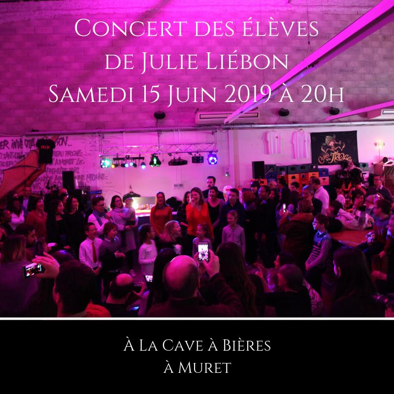 Affiche Concert des élèves à la Cave à bières à Muret 15 juin 2019 à 20h